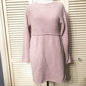 J Jill | Lavender Crew Neck Babydoll Sweater